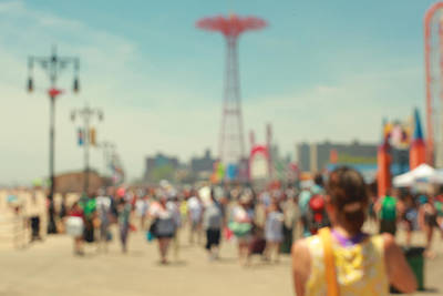Photograph - On the Boardwalk. Coney Island, NYC by Keith Thomson