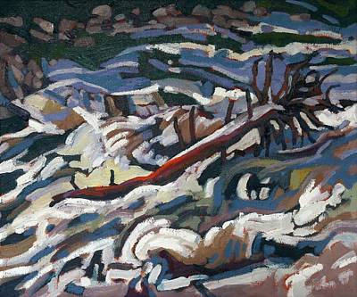 Tree Roots Painting - On The Brink Of Grande Chute by Phil Chadwick