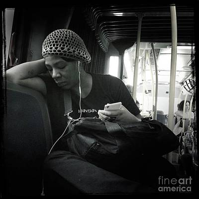 Photograph - On The Bus. As Seen In New York. by Miriam Danar
