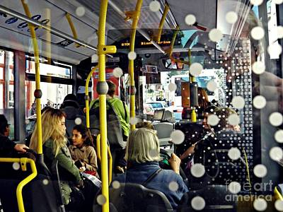Photograph - On The Bus Wiesbaden by Sarah Loft