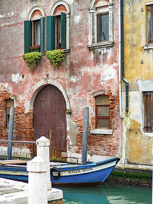 Photograph - On The Canal In Venice by Debbie Karnes