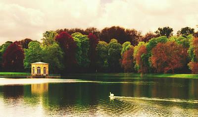 Photograph - On The Carp Pond - Fontainebleau Palace Park And Grounds by Jebulon