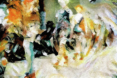 Mixed Media - On The Catwalk by Susan Maxwell Schmidt