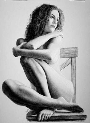 Drawing - On The Chair by Joseph Ogle