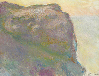 On The Cliff Art Print by Claude Monet