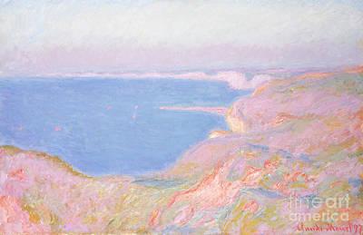 On The Cliffs Near Dieppe, Sunset, 1897 Art Print by Claude Monet
