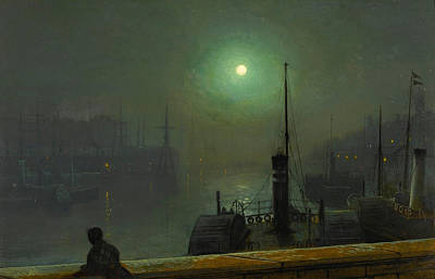 Painting - On The Clyde. Glasgow by John Atkinson Grimshaw