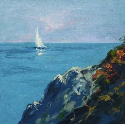 Cape Cod Painting - On The Coast Of Maine by Lisa H Ridabock