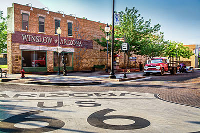 Jackson Browne Photograph - On The Corner In Winslow Arizona by Paul LeSage