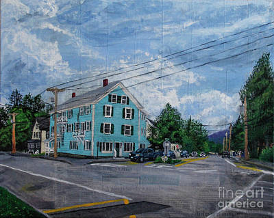 Painting - On The Corner Of Church And Main by Marina McLain