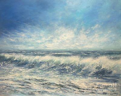 Painting - On The Crest Of A Wave by Valerie Travers