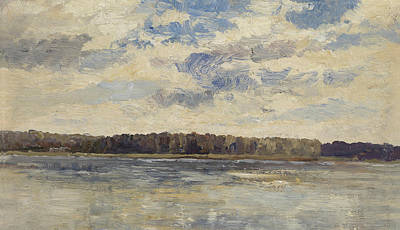 Painting - On The Danube Near Vienna by Marie Egner