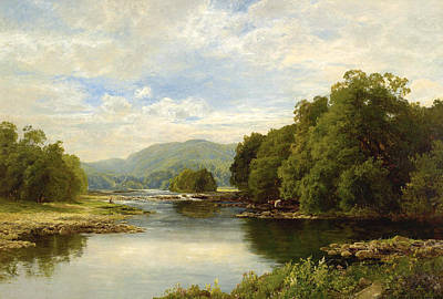 Cumberland River Painting - On The Derwent Cumberland Silver Summer by John Clayton Adams