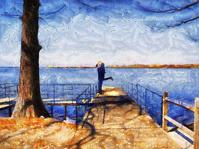 Painting - On The Dock by Jai Johnson