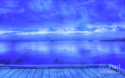 Digital Art - On The Dock Stormy Eve by Randy Steele