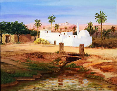 Qatar Painting - On The Eastern Side by Amani Al Hajeri
