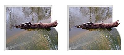 On The Edge - Gently Cross Your Eyes And Focus On The Middle Image Art Print
