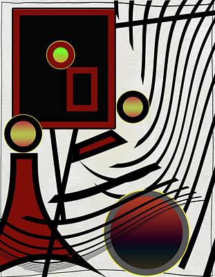 Alexander Calder Digital Art - On The Edge by Linda Dunn