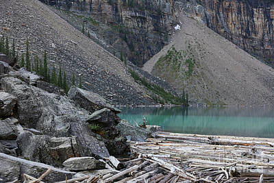 Photograph - On The Edge Of Lake Moraine by Carol Groenen