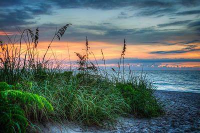 Sanddunes Photograph - On The Edge Of Sunrise by Debra and Dave Vanderlaan