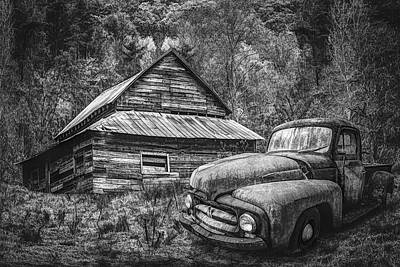 Photograph - On The Edge Of The Mountains In Black And White by Debra and Dave Vanderlaan