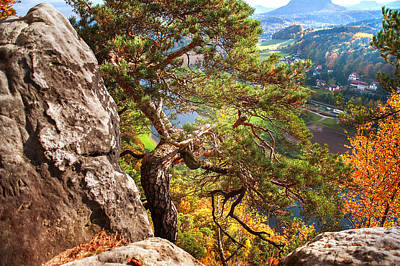Photograph - On The Edge. Saxon Switzerland by Jenny Rainbow