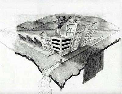 On The Edge Art Print by Sean Keir Walburn