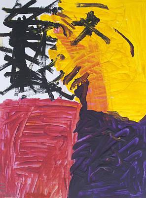 Spiritual Warfare Painting - Kung Fu Cliffhanger by Stormm Bradshaw