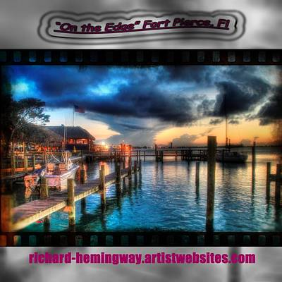 Fort Pierce Inlet Photograph - On The Edge Tote Bag by Richard Hemingway