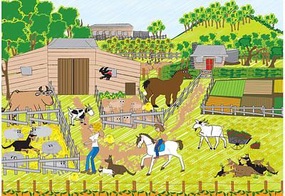 On The Farm Art Print by Diana-Lee Saville