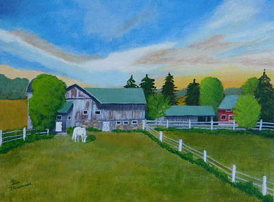 Wall Art - Painting - On The Farm by Lisa MacDonald