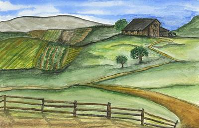 Painting - On The Farm by Sara Stevenson
