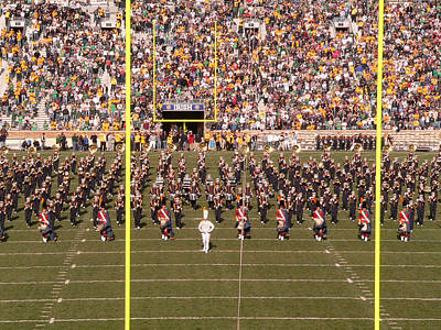 Marching Band Photograph - On The Field by David Bearden