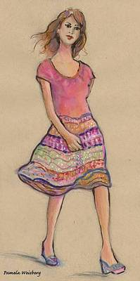 Painting - On The Go Fashion Illustration by Pamela Weisberg