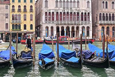 Photograph - On The Grand Canal by Frozen in Time Fine Art Photography