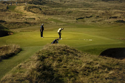 Photograph - On The Green The Postage Stamp - Royal Troon Golf Course by Alex Saunders