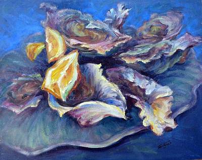 Half Shell Painting - On The Half Shell by Geri Acosta