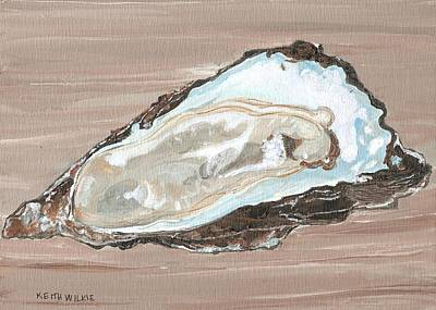 Half Shell Painting - On The Half Shell by Keith Wilkie