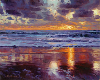Prayer Wall Art - Painting - On The Horizon by Steve Henderson