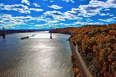 Photograph - On The Hudson by Ron Grafe