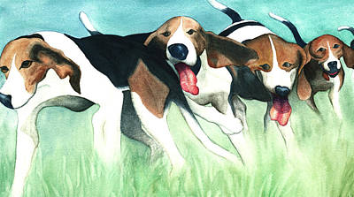 Cartoony Painting - On-the-hunt by Anne Havard