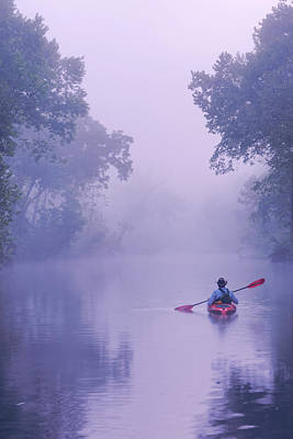 Photograph - On The Inky Big Piney River Boiling Springs by Robert Charity