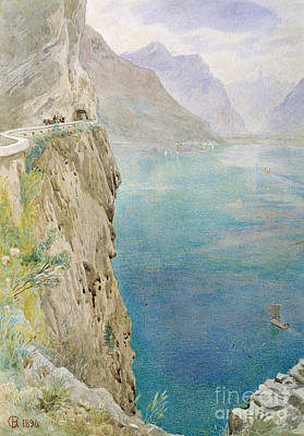 On The Italian Coast Art Print by Harry Goodwin