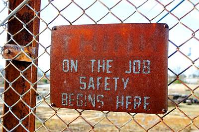 Photograph - On The Job Safety 2 by Joseph C Hinson Photography