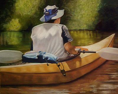 On The Kickapoo Art Print by Marcia  Hero