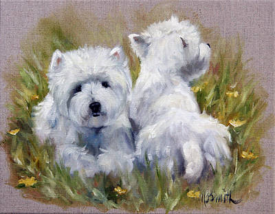 On The Lawn Art Print by Mary Sparrow