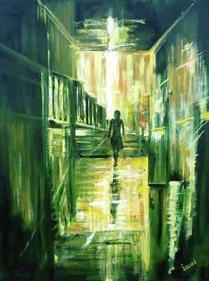Soaring Painting - On The Light by Ildiko Csegoldi Decsei