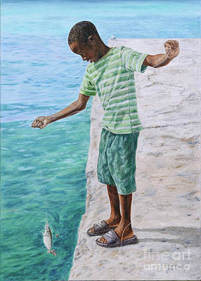 Painting - On The Line by Roshanne Minnis-Eyma