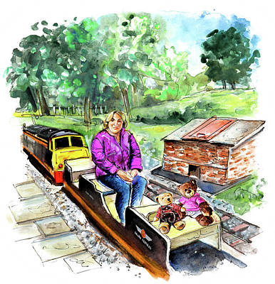 Painting - On The Little Train At Newby Hall by Miki De Goodaboom