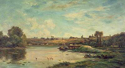 On The Loire Art Print by Charles Francois Daubigny